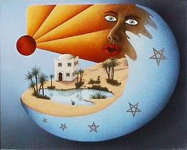tagtraum marokko, acryl auf leinwand, 67 cm x 54 cm