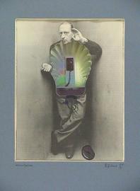 kommunikation, kollage papier, 30 cm x 40 cm