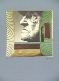 lebensabend, kollage papier, 30 cm x 40 cm