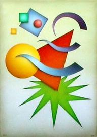 geo I, acryl auf leinwand, 50 cm x 70 cm