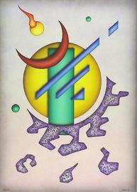 geo Il, acryl auf leinwand, 50 cm x 70 cm