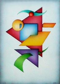 geo Ill, acryl auf leinwand, 50 cm x 70 cm