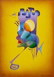 mondläufer, acryl auf leinwand, 50 cm x 70 cm