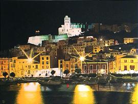 ibiza night, acryl auf leinwand, 80 cm x 60 cm