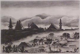 bali, bleistift auf papier, 58 cm x 40 cm