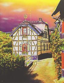 kronberg davidsburg, acryl auf leinwand, 70 cm x 90 cm