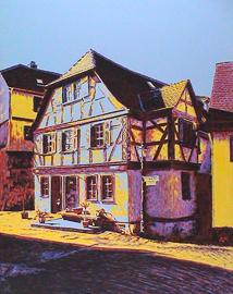 kronberg pferdstraße, acryl auf leinwand, 70 cm x 90 cm