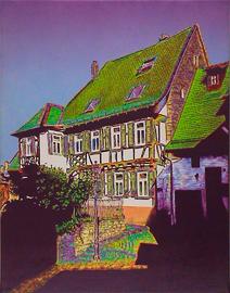 kronberg grabenstraße, acryl auf leinwand, 70 cm x 90 cm