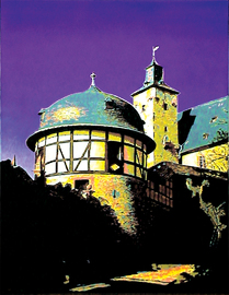 ronberg barocktürmchen, acryl auf leinwand, 70 cm x 90 cm