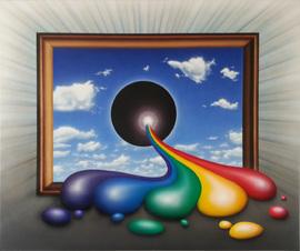 black holy sun, acryl auf leinwand, 120 cm x 100 cm